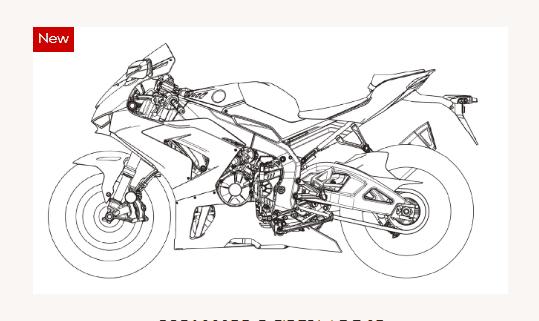 塗り絵バイク