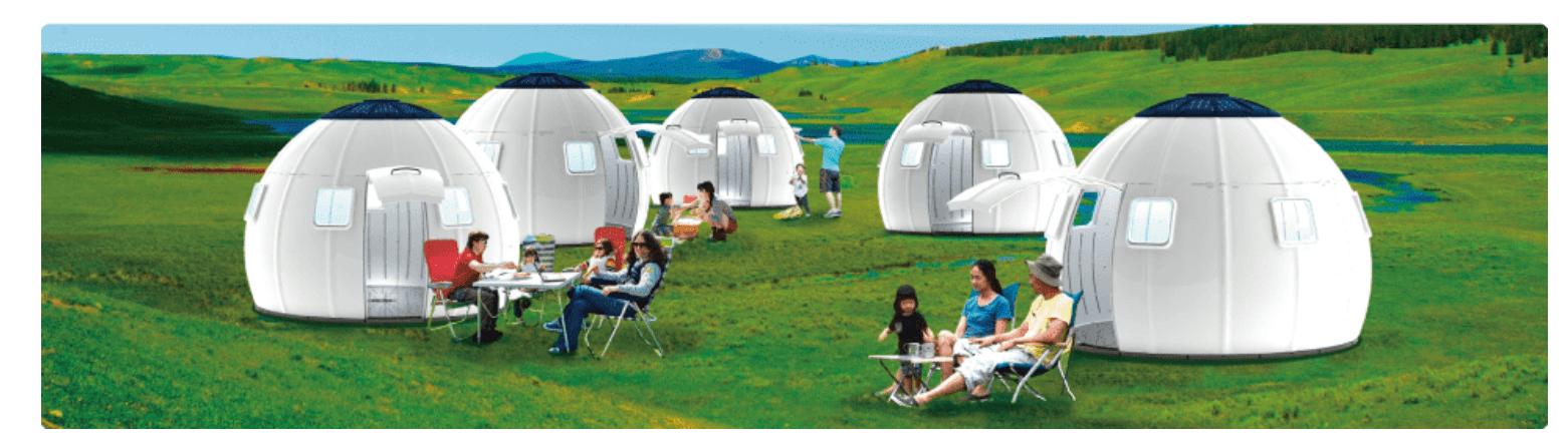 キャンプ場で設置